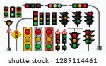 set of realistic traffic light... | Shutterstock .eps vector #1289114461
