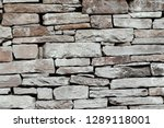 natural stones rocks bricks... | Shutterstock . vector #1289118001