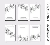 collection with six floral... | Shutterstock .eps vector #1289125714