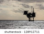 Silhouette Of An Oil Productio...