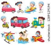 vector illustration of cartoon... | Shutterstock .eps vector #1289129194