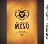 restaurant menu design | Shutterstock .eps vector #128913269