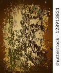 brown grunge background ... | Shutterstock .eps vector #128913821
