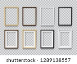set of photo realistic square... | Shutterstock .eps vector #1289138557