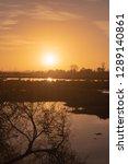 view of sunset on ria de aveiro ... | Shutterstock . vector #1289140861