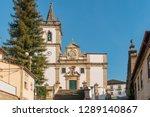 the facade of the parish church ... | Shutterstock . vector #1289140867