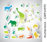Zoo Sticker Animals Collection...