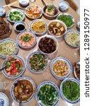 small company dinner | Shutterstock . vector #1289150977