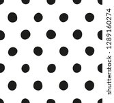 seamless polka dot pattern of... | Shutterstock .eps vector #1289160274