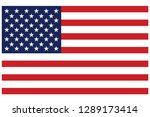 usa flag vector | Shutterstock .eps vector #1289173414