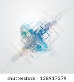 abstract space computer cyber... | Shutterstock .eps vector #128917379