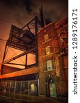 industrial city alley street... | Shutterstock . vector #1289176171