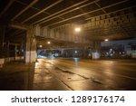 gritty dark city highway bridge ... | Shutterstock . vector #1289176174