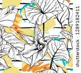 tropical  stripe  animal motif. ...   Shutterstock .eps vector #1289182411