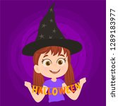 disguised as a witch | Shutterstock .eps vector #1289183977