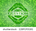 question realistic green mosaic ... | Shutterstock .eps vector #1289193181