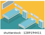 hospital emergency room with 2... | Shutterstock .eps vector #1289194411