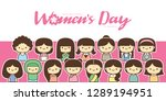 international women's day...   Shutterstock .eps vector #1289194951