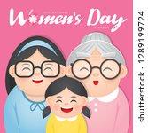 international women's day...   Shutterstock .eps vector #1289199724
