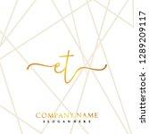 et initial handwriting logo... | Shutterstock .eps vector #1289209117