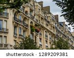 buildings in paris | Shutterstock . vector #1289209381