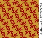 bamboo leaves pattern concept... | Shutterstock .eps vector #1289227744