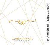 ex initial handwriting logo... | Shutterstock .eps vector #1289227804