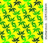 bamboo leaves pattern concept... | Shutterstock .eps vector #1289228644