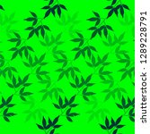 bamboo leaves pattern concept... | Shutterstock .eps vector #1289228791