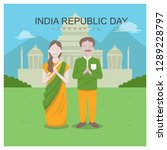 indian republic day | Shutterstock .eps vector #1289228797