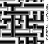 ratio between all black and... | Shutterstock .eps vector #1289230087