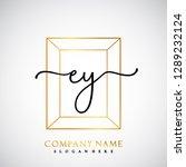 ey initial handwriting logo... | Shutterstock .eps vector #1289232124