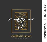 ez initial handwriting logo... | Shutterstock .eps vector #1289232151