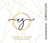 ez initial handwriting logo... | Shutterstock .eps vector #1289232154