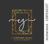 ez initial handwriting logo... | Shutterstock .eps vector #1289232157
