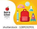 back to school sale banner ... | Shutterstock .eps vector #1289232931