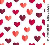 vector flat st.valentine day... | Shutterstock .eps vector #1289233297