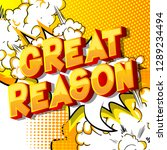 great reason   vector... | Shutterstock .eps vector #1289234494
