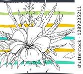 tropical  modern stripes motif. ...   Shutterstock .eps vector #1289235211