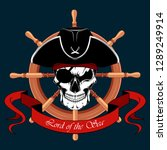 skull of a pirate with an eye... | Shutterstock .eps vector #1289249914