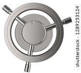 3d rendering metallic vault... | Shutterstock . vector #1289253124