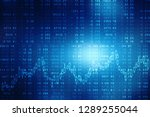 stock market graph. abstract... | Shutterstock . vector #1289255044