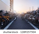 A Lot Of Bicycle Parked At The...