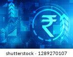growth of indian stock market ... | Shutterstock . vector #1289270107