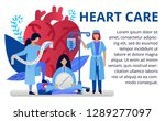 heart care concept in flat... | Shutterstock .eps vector #1289277097