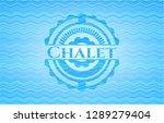 chalet light blue water wave... | Shutterstock .eps vector #1289279404