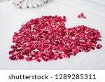rose heart shape is a symbol of ... | Shutterstock . vector #1289285311