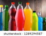 plastic bottles of assorted... | Shutterstock . vector #1289294587