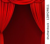 red curtain | Shutterstock .eps vector #128929811