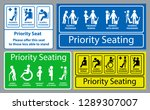 priority seat sticker. using in ... | Shutterstock .eps vector #1289307007